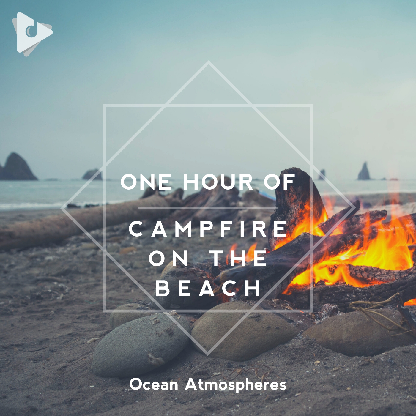 1 Hour of Campfire on the Beach