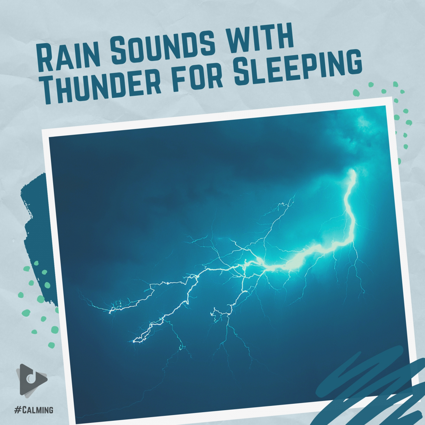 Rain Sounds with Thunder for Sleeping