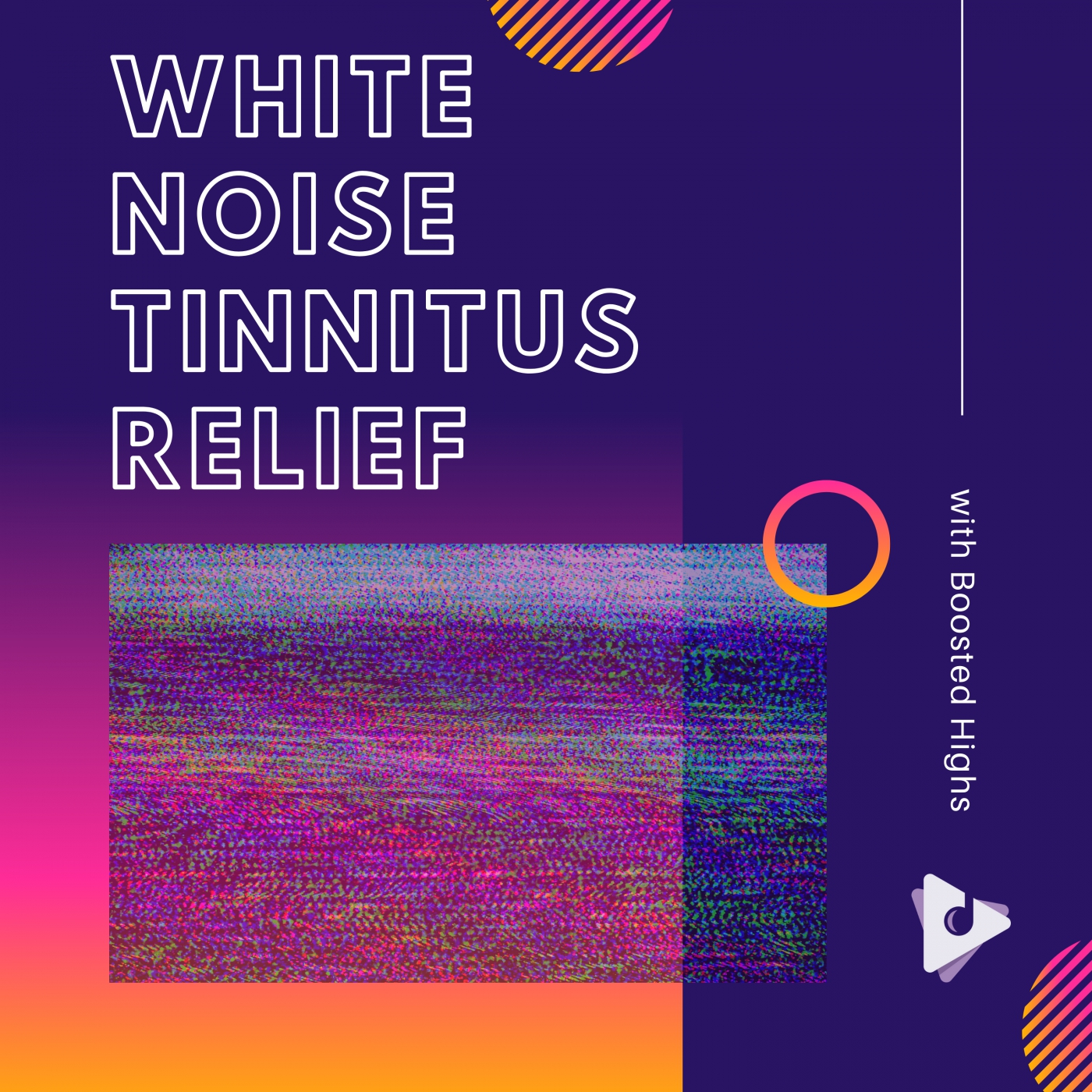 White Noise Tinnitus Relief with Boosted Highs