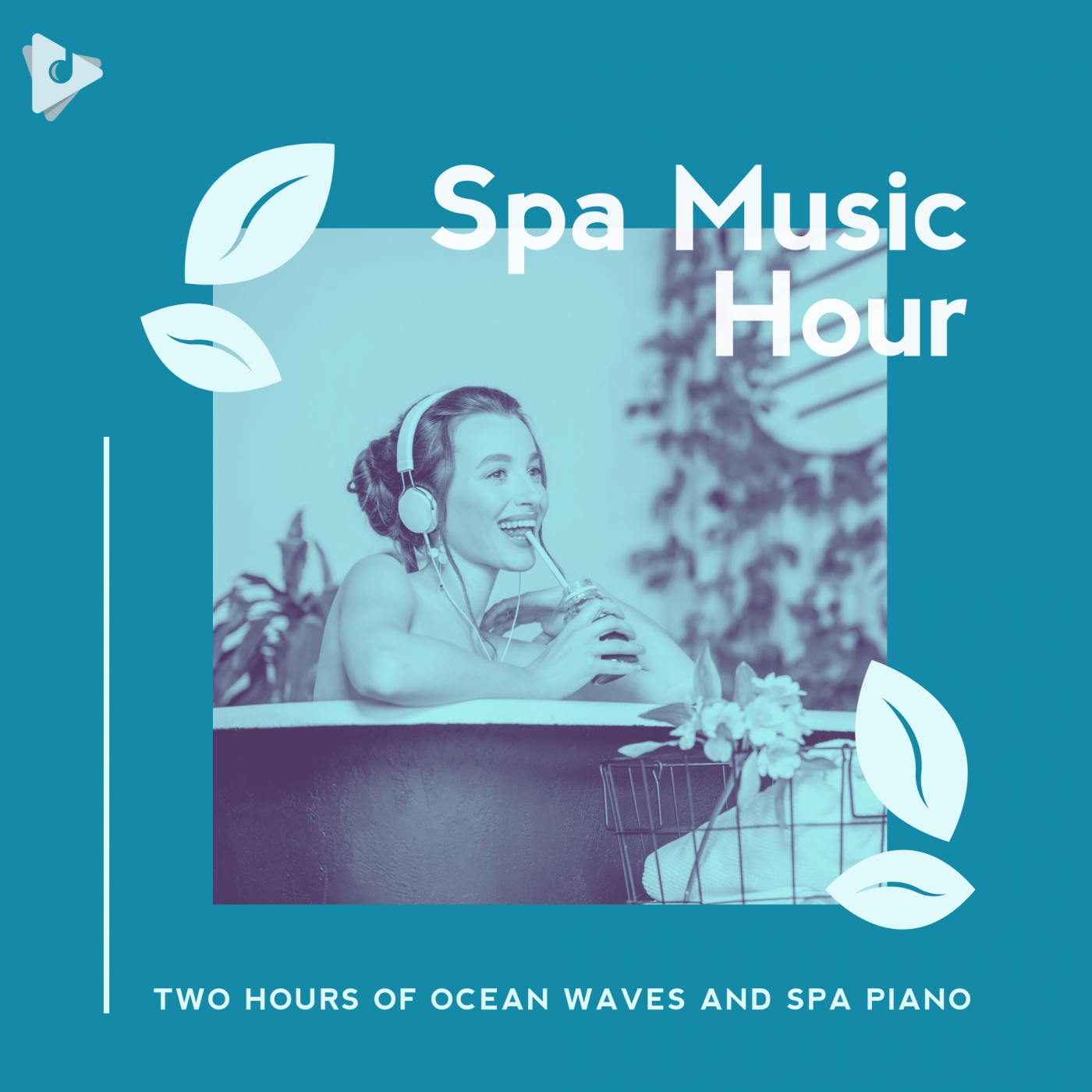Two Hours of Ocean Waves and Spa Piano