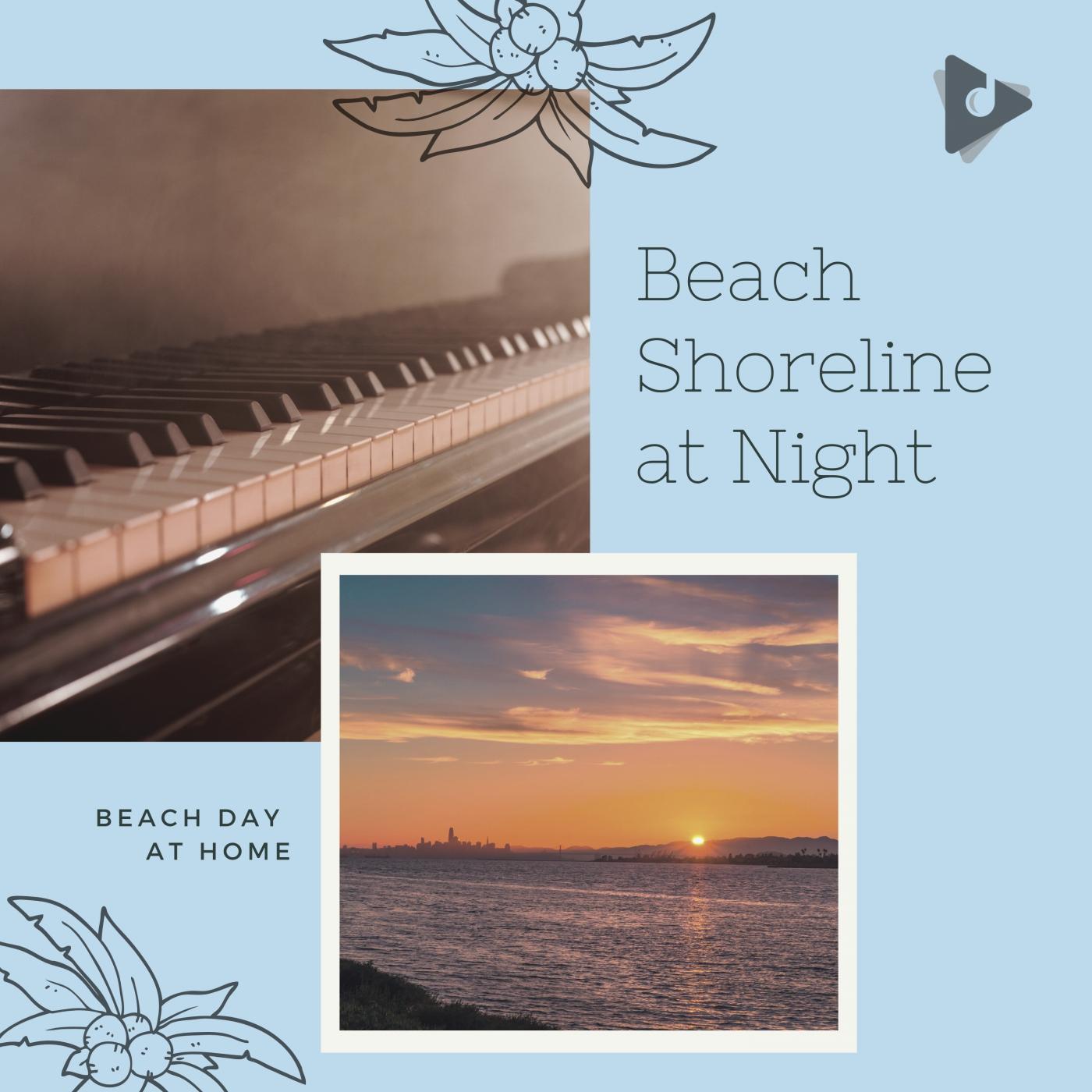 Beach Shoreline at Night