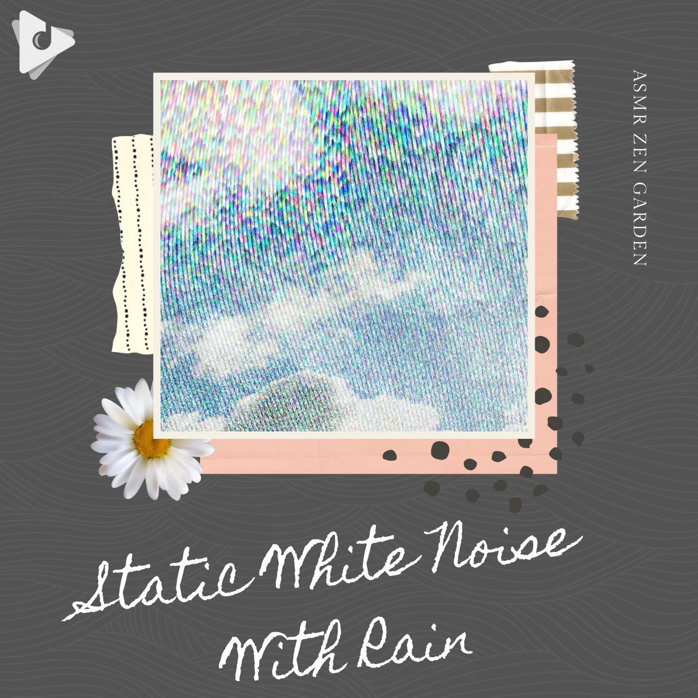 Static White Noise With Rain