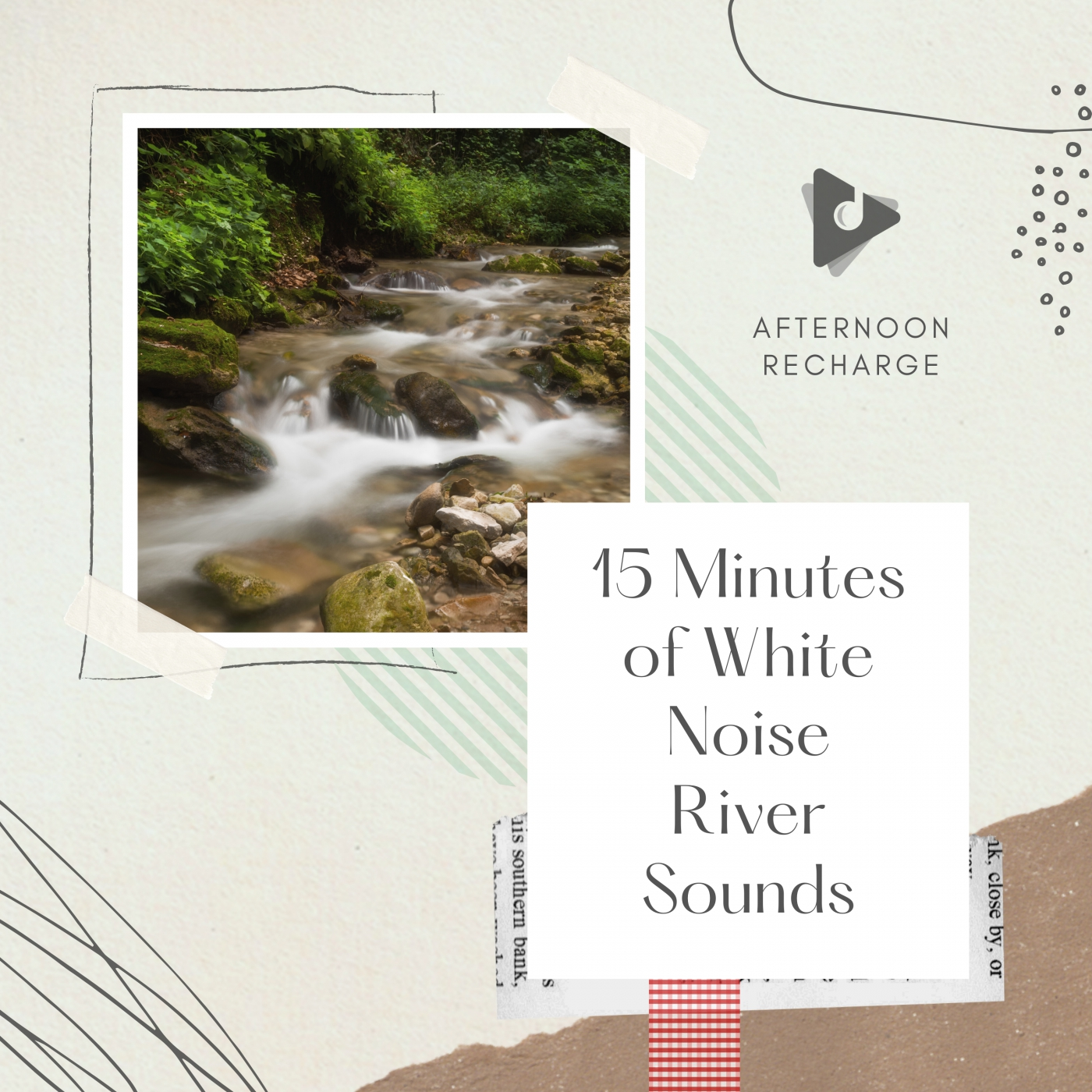 15 Minutes of White Noise River Sounds