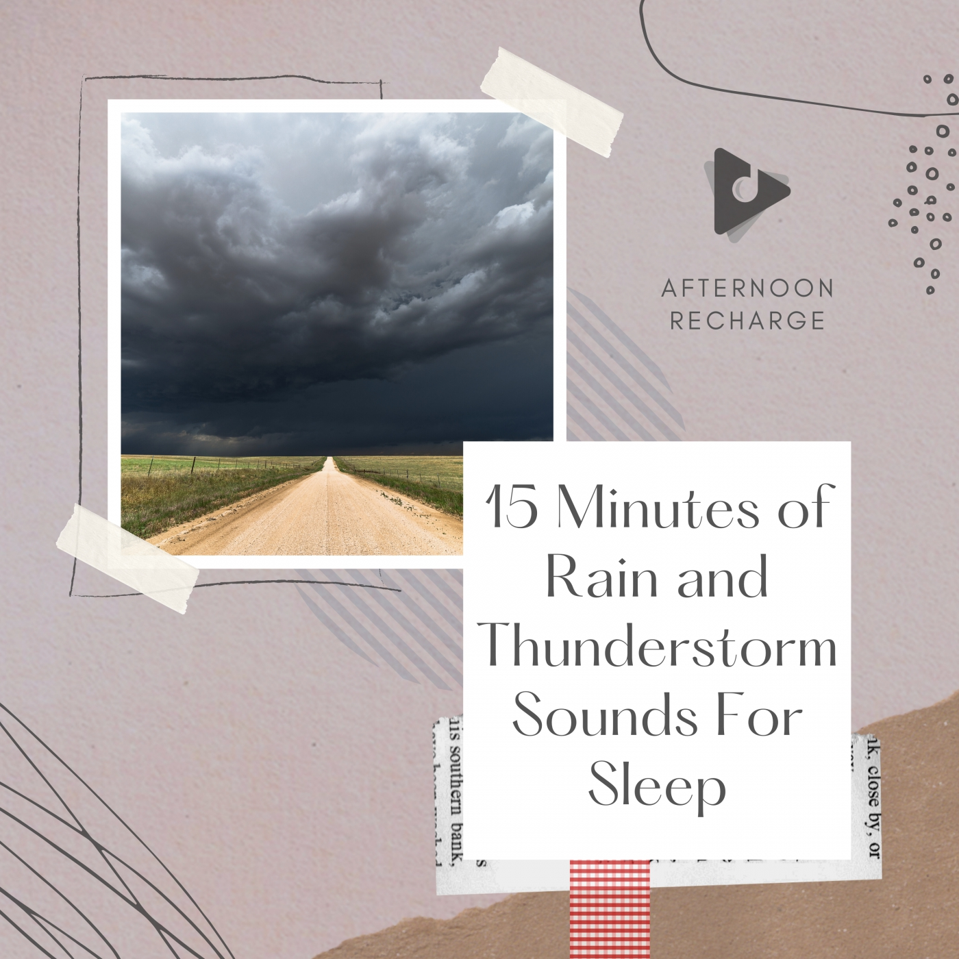 15 Minutes of Rain and Thunderstorm Sounds For Sleep